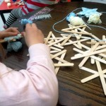 Making snowflakes 16th Dec